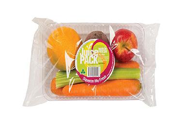 混合蔬菜水果带托盒包装方案