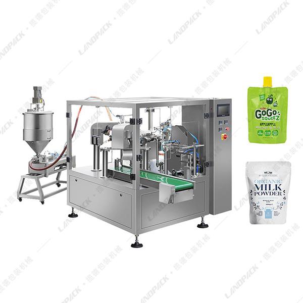 吸嘴袋液体包装机_自立吸嘴塑料袋包装机械