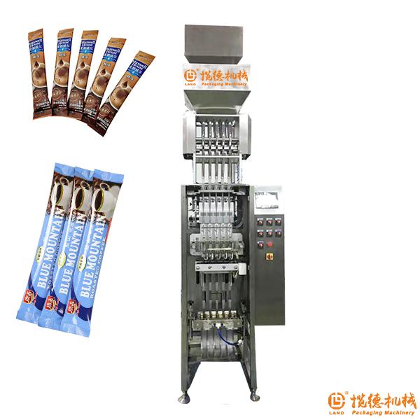 混合咖啡包装机_长条混合三合一咖啡包装机