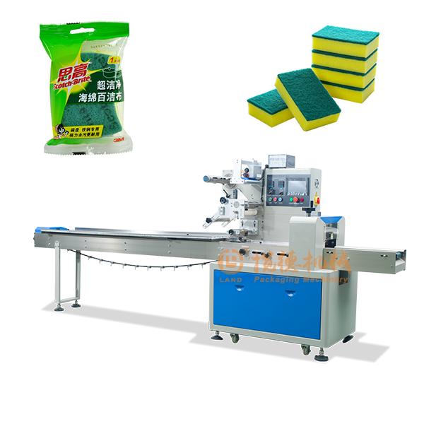 百洁布包装机_袋装洗碗布/抹布包装机器设备