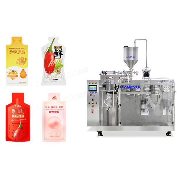水平异型袋果汁包装机